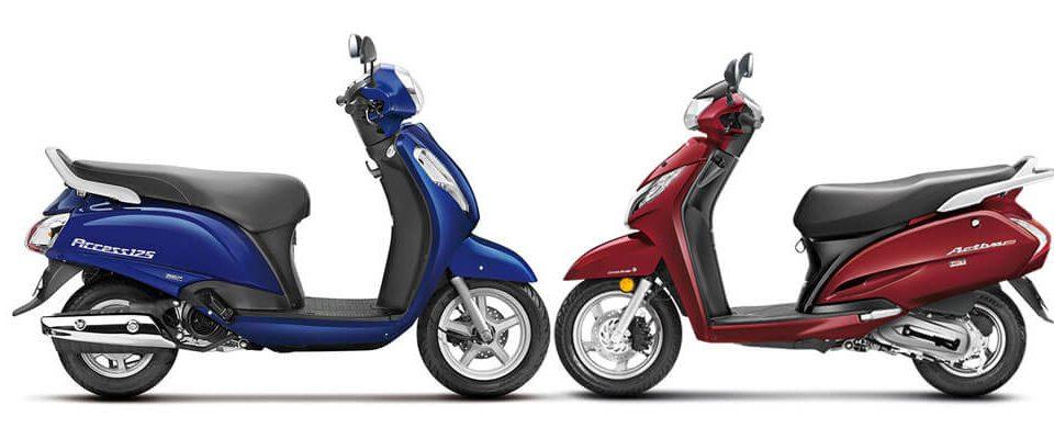 Honda Activa 125 vs Suzuki 125